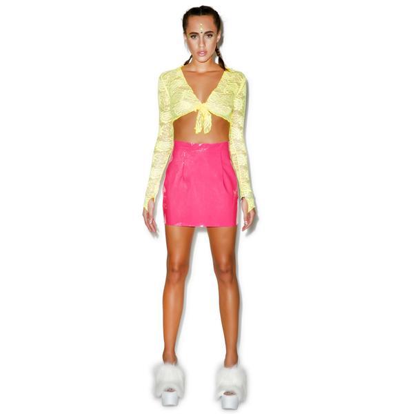 American Apparel Vixen Vinyl Mini Skirt
