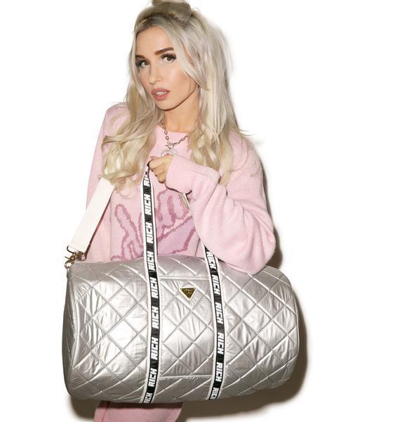 Joyrich Silver Sheen Boston Bag