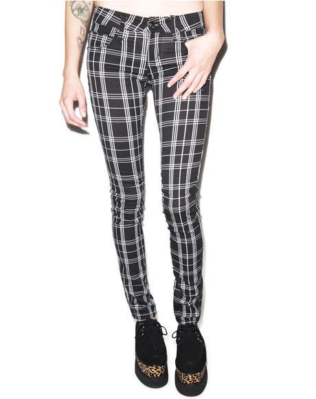 Plaid T Jeans