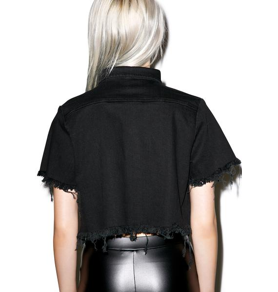 Disturbia Exile Cropped Shirt
