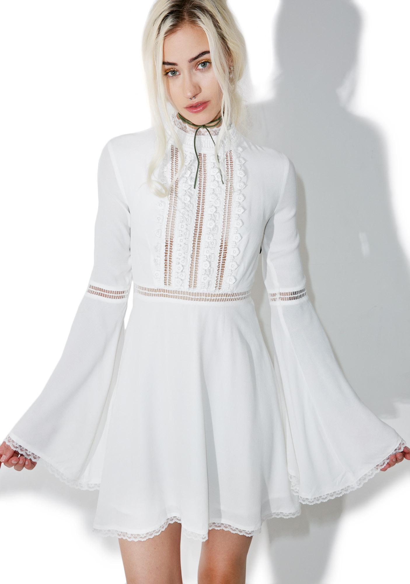 For Love & Lemons Willow Bell Sleeve Dress