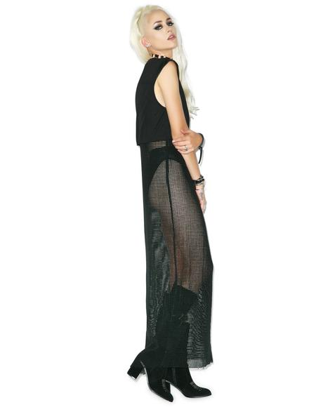 Falling Feather Maxi Dress