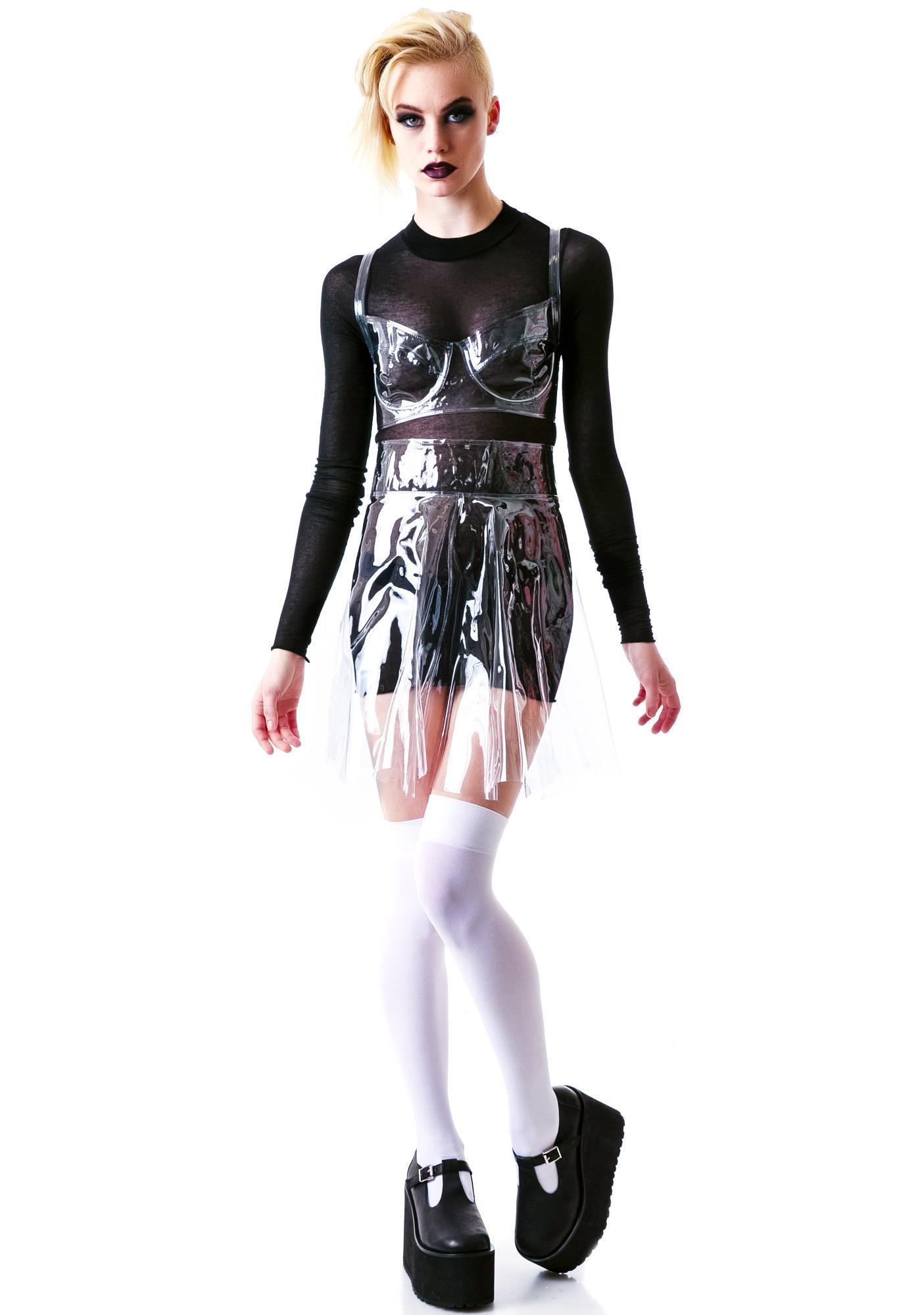 Chromat Piriform Vinyl Skirt
