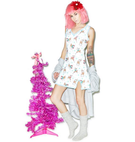 Sourpuss Clothing Reindeer Games Nightie