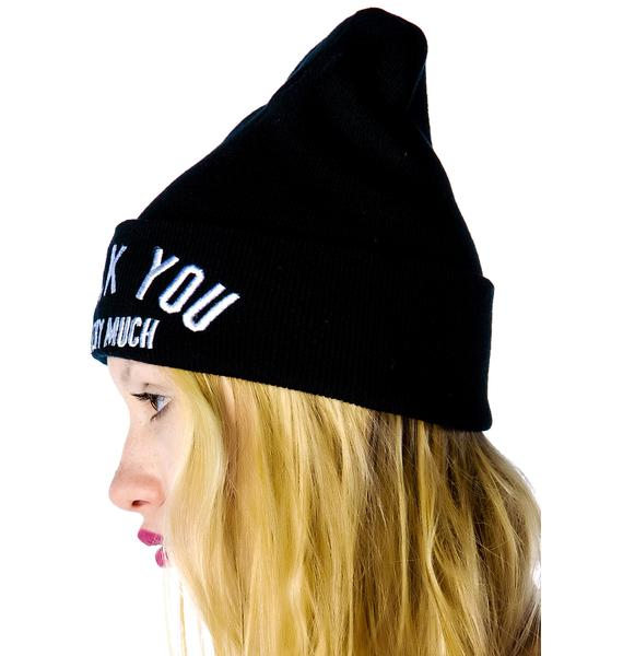 Hellz Bellz x Belle of the Brawl Very Much Beanie