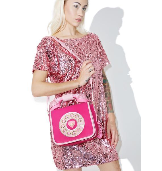 Betsey Johnson Pouty Hotline Crossbody Bag
