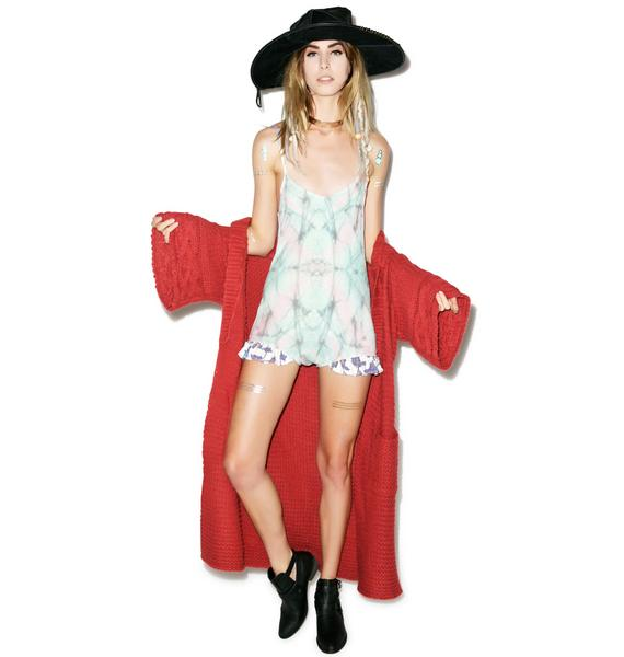 Wildfox Couture Gypsy Patch Ruffle Romper