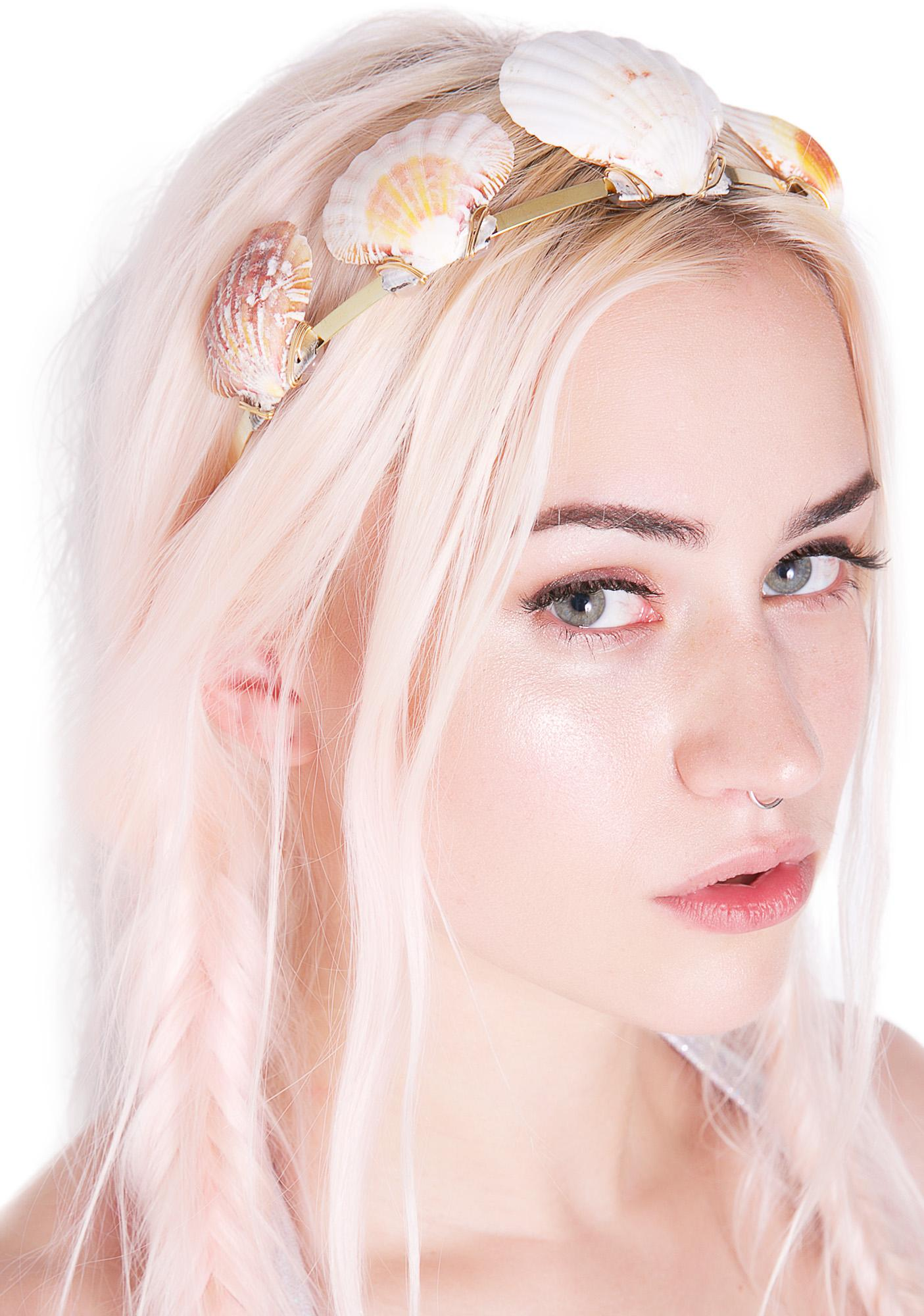 Rock n Rose Shell Queen Metal Headband