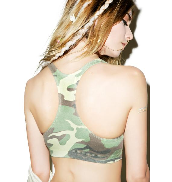Wildfox Couture Classic Camo Spice Girl Top