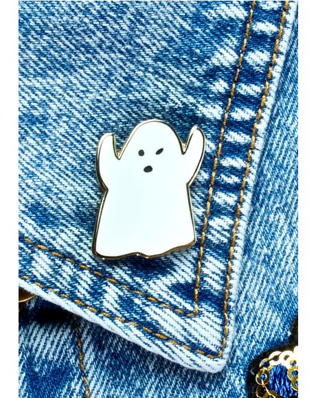 Golden Ghost Pin