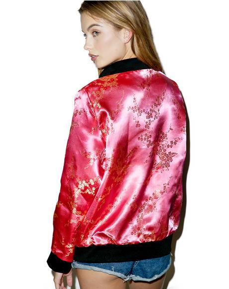 Cherry Blossom Bomber Jacket
