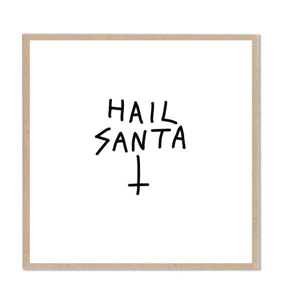 Lazy Oaf Hail Santa Card