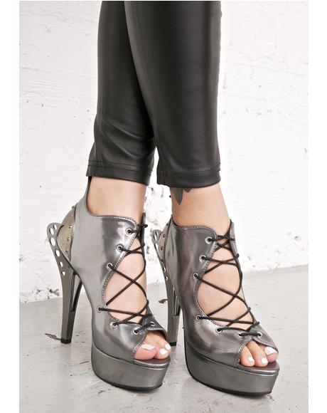 Stellar Lace-Up Heels