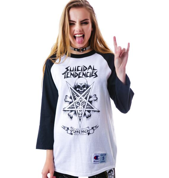 Suicidal Tendencies Possessed Baseball Raglan
