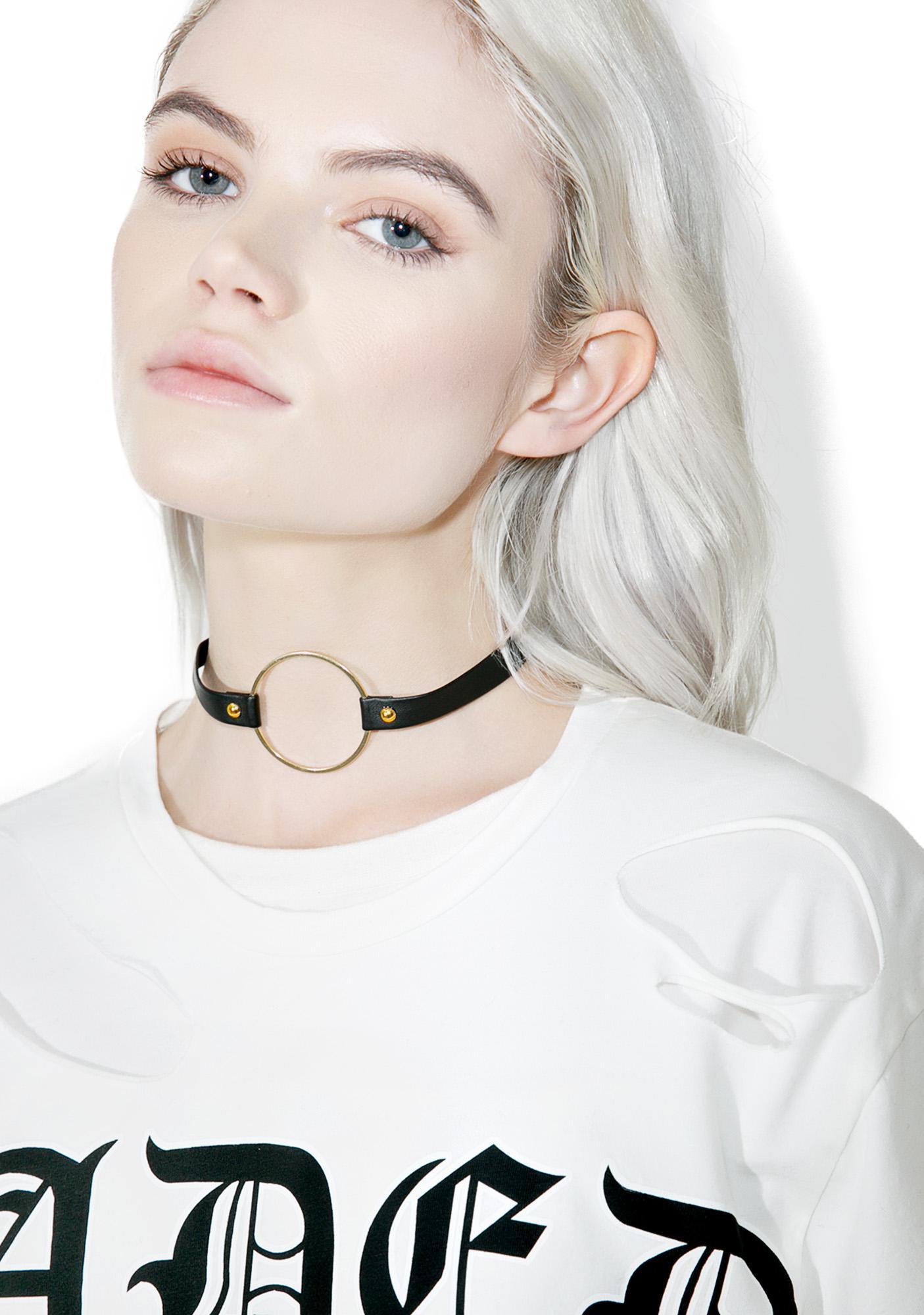 So Gold O-Ring Choker
