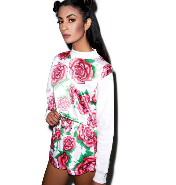 Joyrich Brush Rose Cropped Crew
