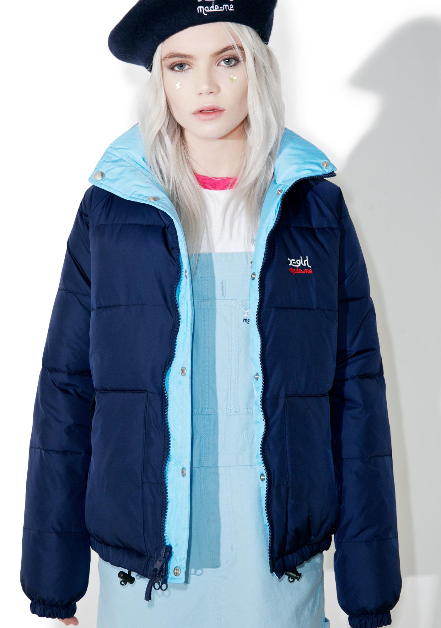 MadeMe x X-Girl Reversible Puffy jacket