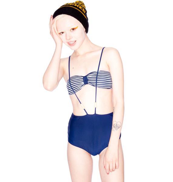 One Teaspoon Caribbean Stripe Highwaist Bikini