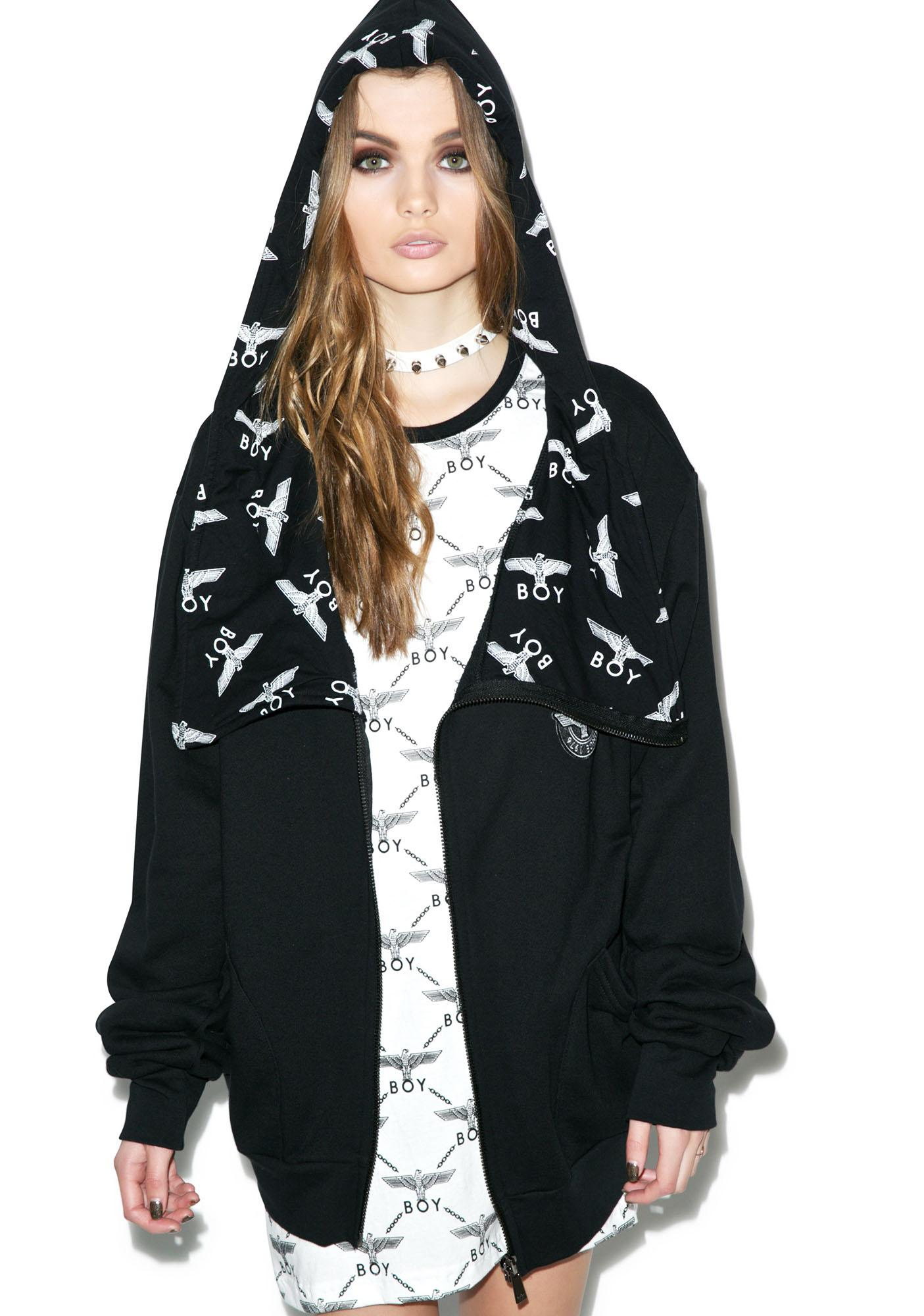 BOY London Allover Eagle inside Hoodie