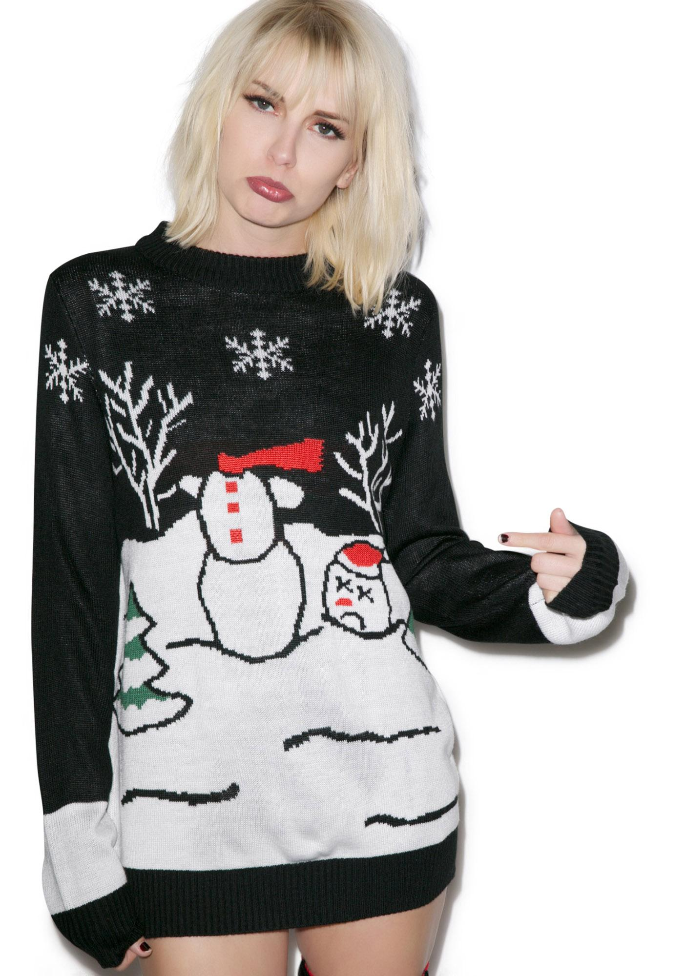 Tipsy Elves Headless Frosty Sweater