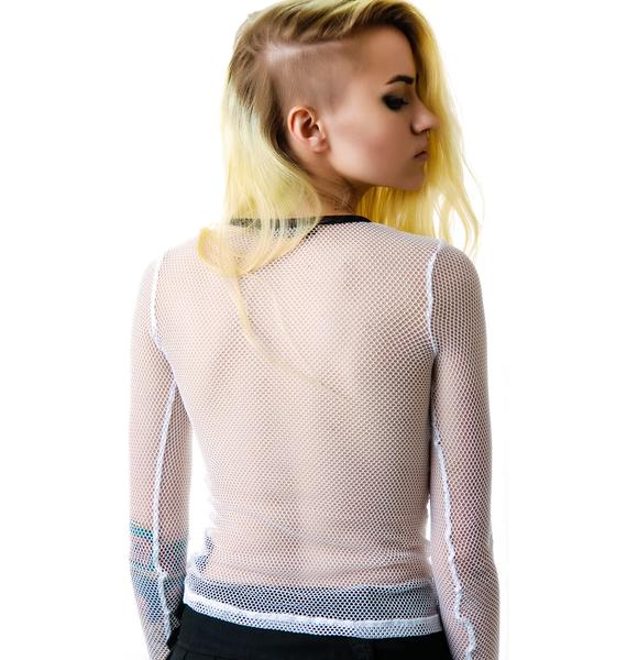 Lip Service Fash-ist Fishnet Long Sleeve Top