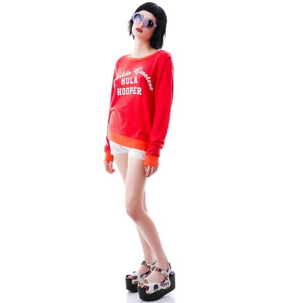 Wildfox Couture Hula Hooper Baggy Beach Jumper