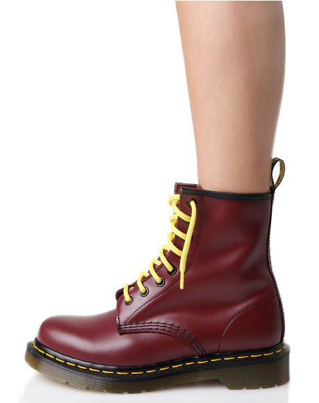 Cherry Red 1460 8 Eye Boots