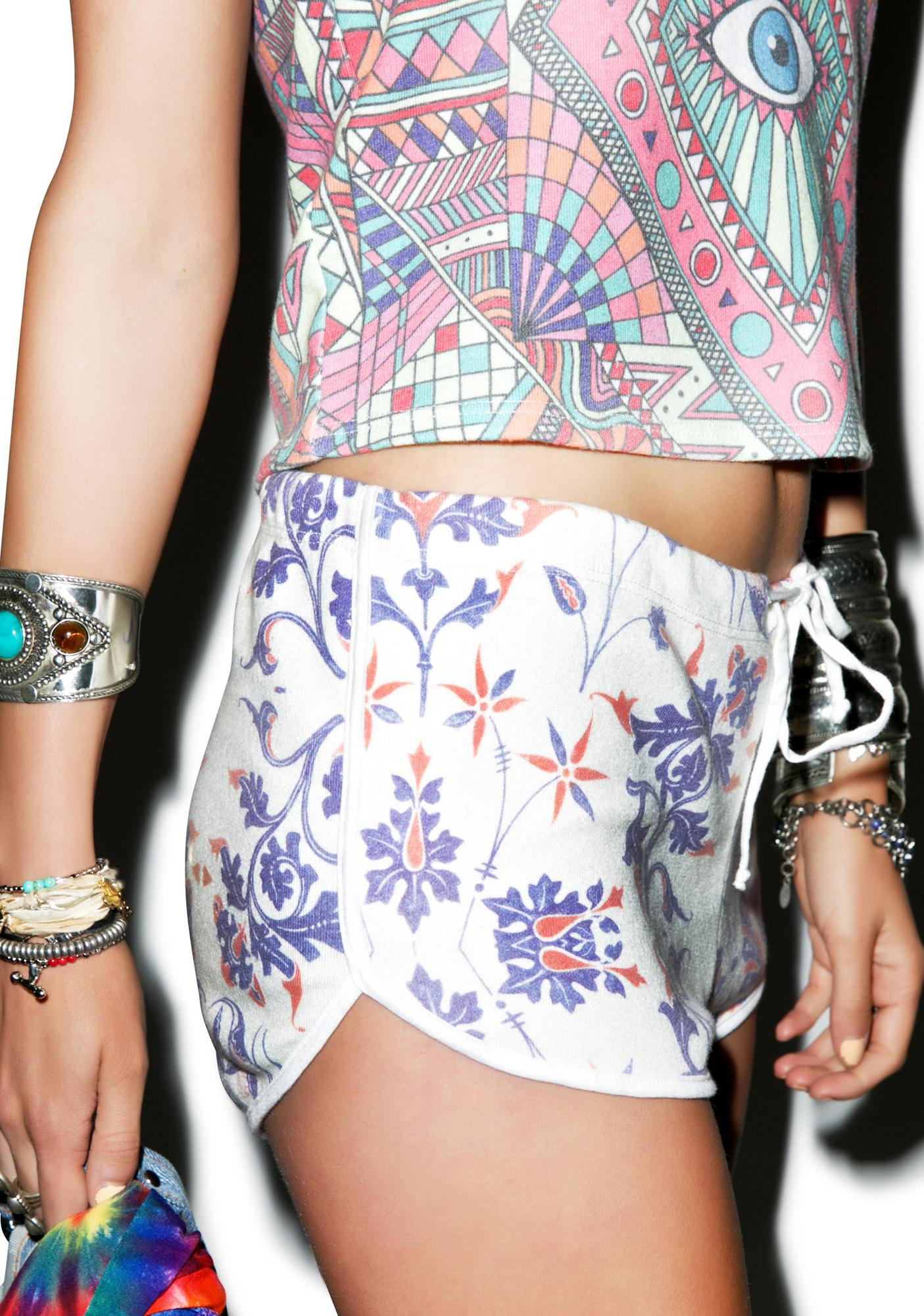 Wildfox Couture American Paisley Pool Party Shorts