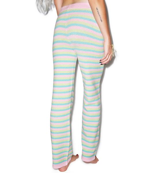 Knitty Kitty Bubblegum Striped Pants