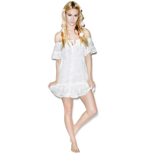 For Love & Lemons Pina Colada Mini Dress