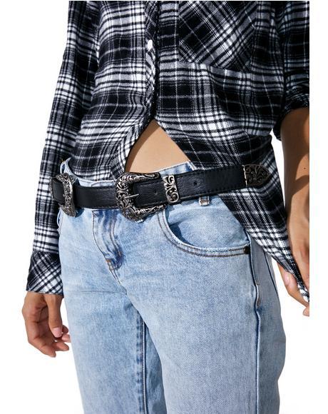 Revolver Double Buckle Belt