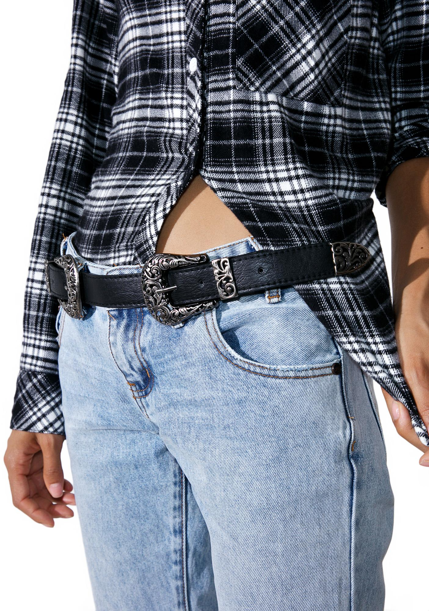 Revolver Double Buckle Belt