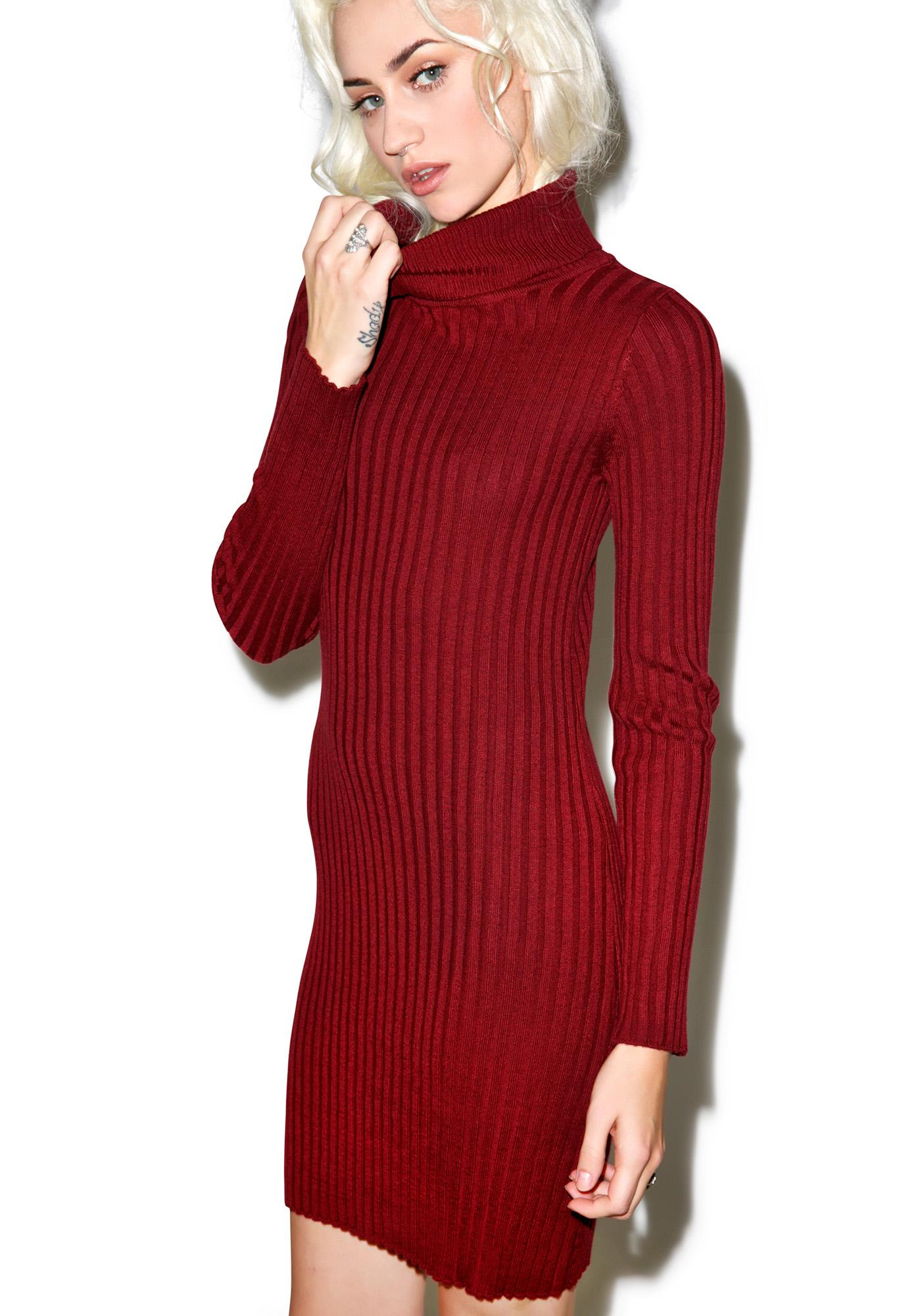 Knitting Pattern Turtleneck Dress : For Love & Lemons Everyday Knit Turtleneck Dress Dolls Kill
