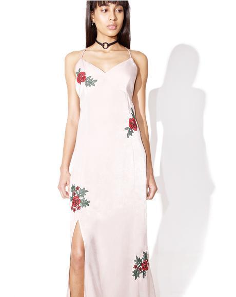 Blush Rosy Cheeks Maxi Dress