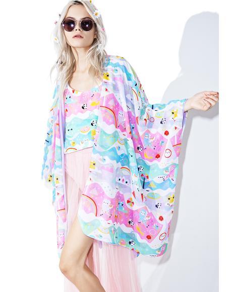 X Crowded Teeth Magicalpaca Kimono