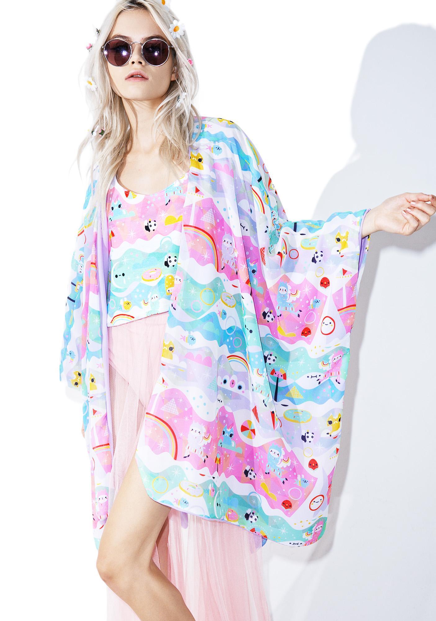 Japan L.A. X Crowded Teeth Magicalpaca Kimono