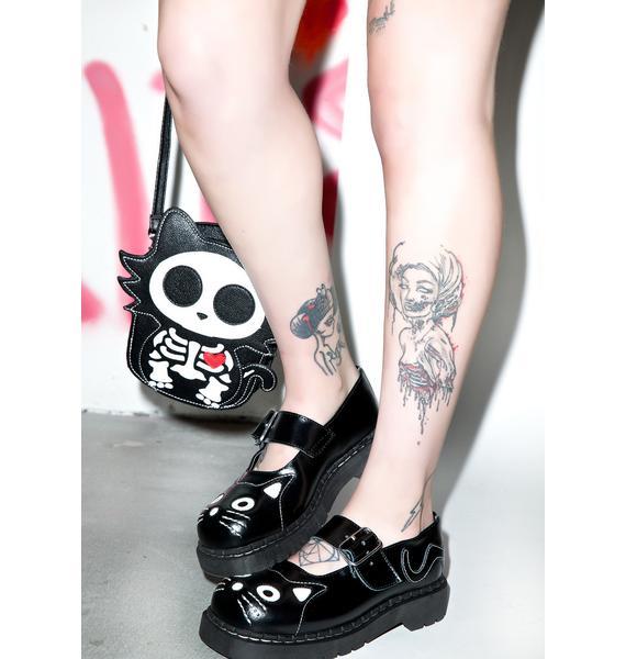 T.U.K. Anarchic Kitty Mary Janes