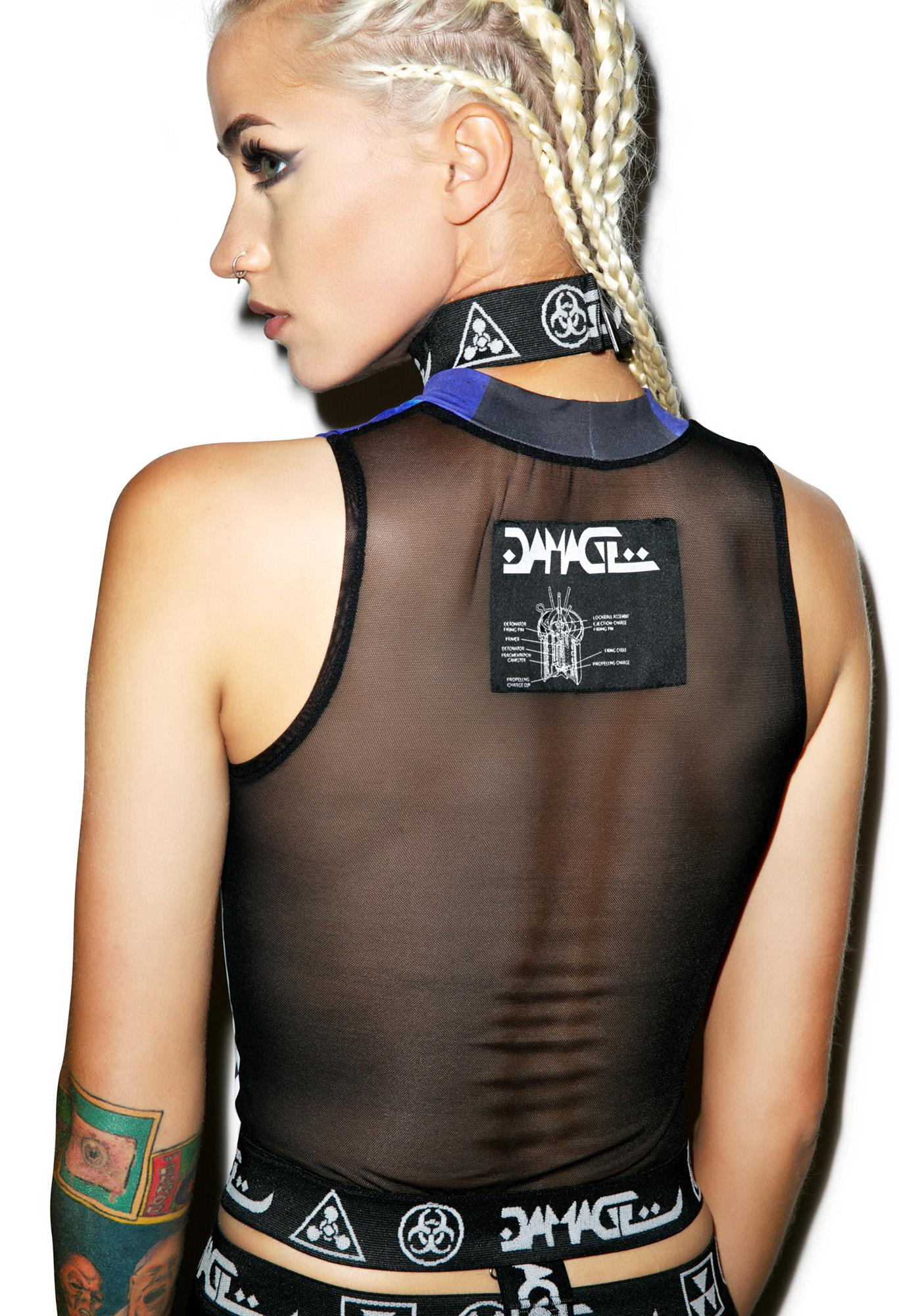 DAMAGE Nuke Kid On The Block Crop Top