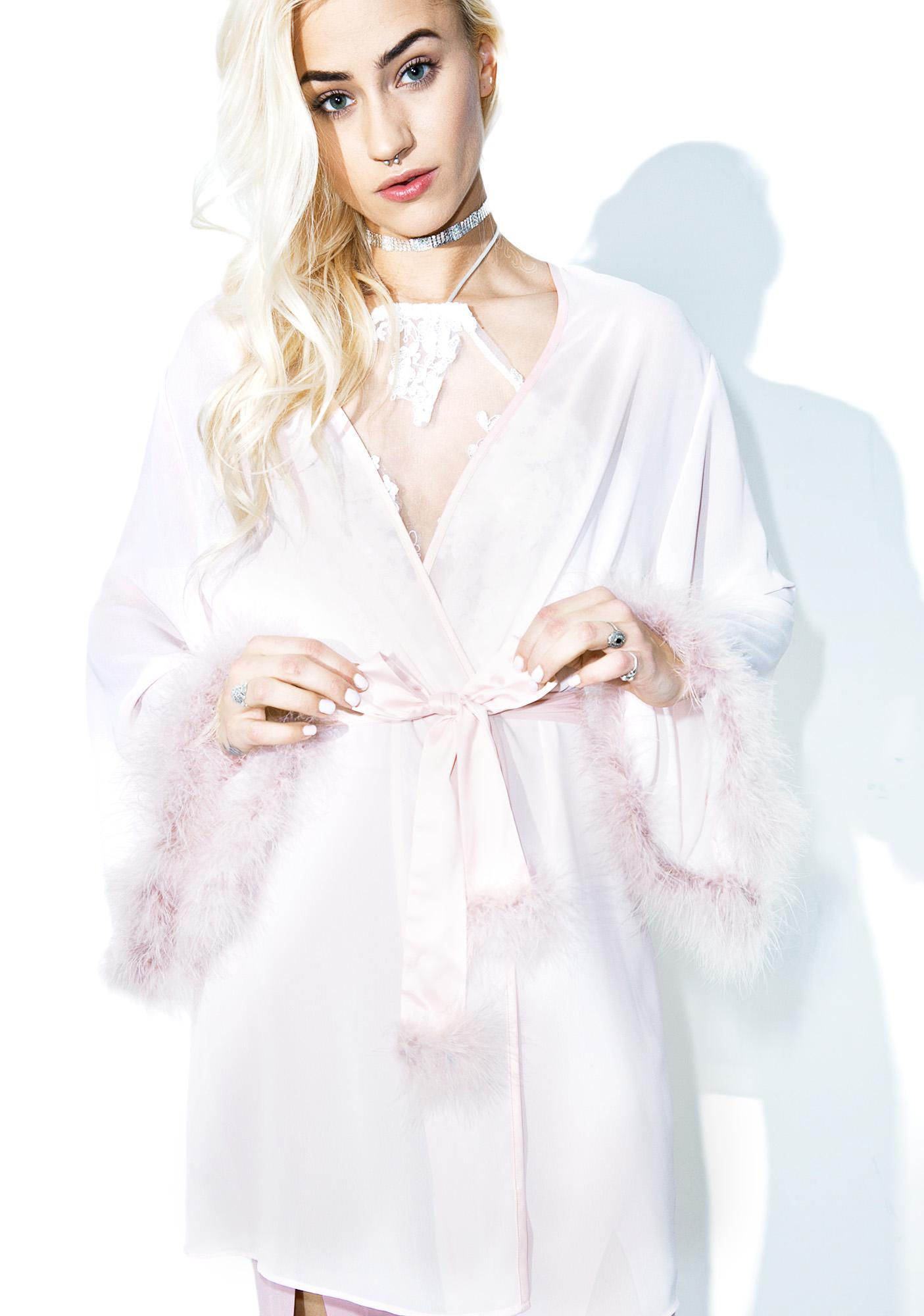 Harlow Ostrich Feather Robe