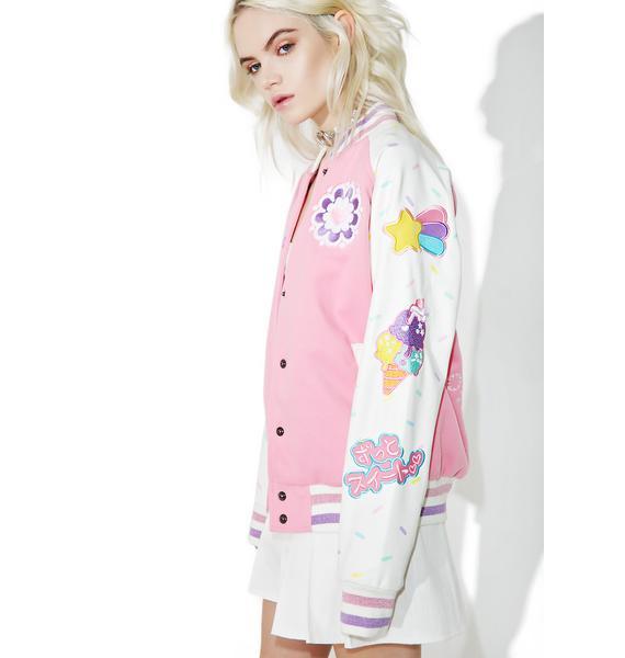 Japan L.A. X Miss Kika Stay Sweet Varsity Jacket