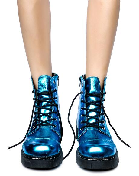 Metallic 7 Eye Boot
