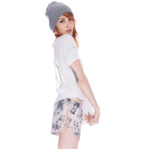 Chaser Tie Dye Silk Mini Shorts
