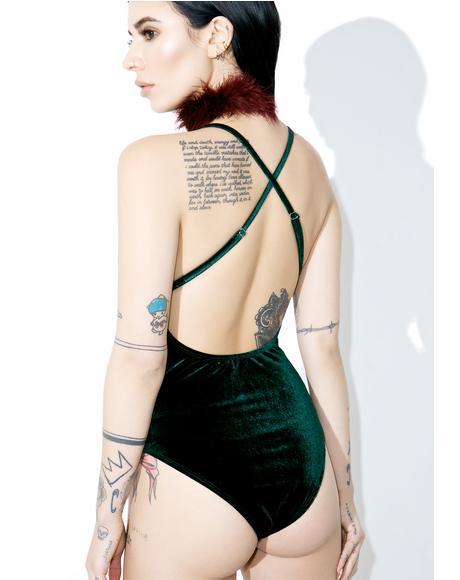 Emerald Velvet Bodysuit