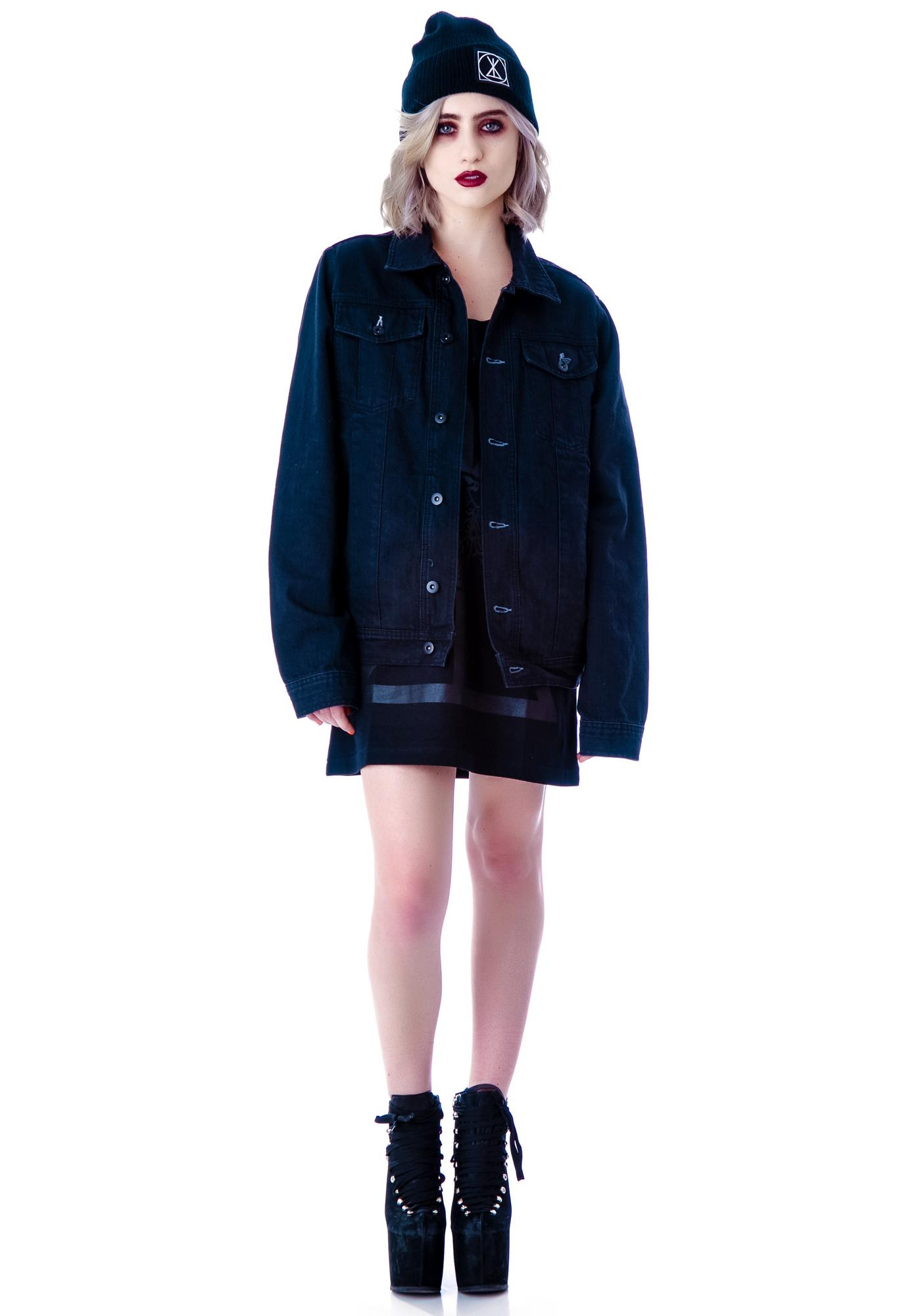 Inverted Cross Denim Jacket