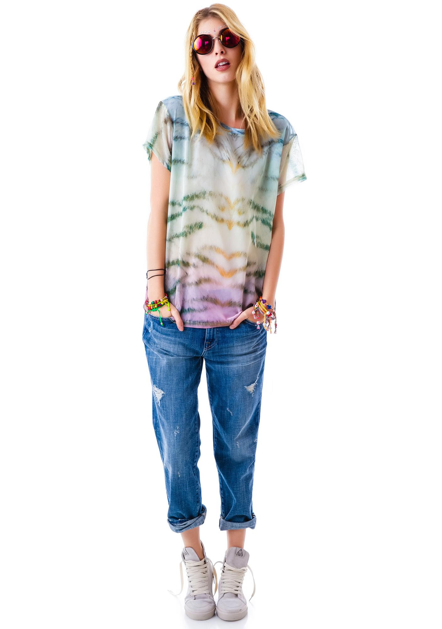Wildfox Couture Sherbert Tiger Print Breezie T