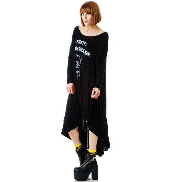 United Couture Pretty Motherfucker Long Sleeve Dress