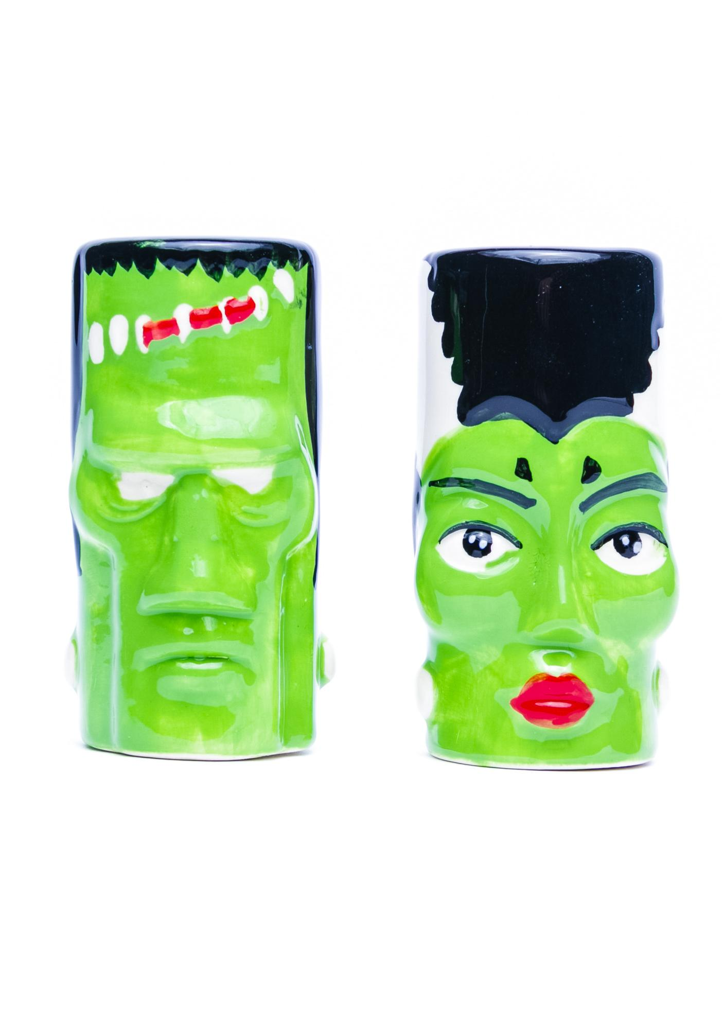 Sourpuss Clothing Frank and Bride Salt and Pepper Shakers