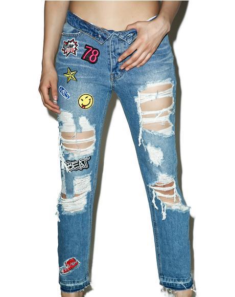 Dropout Destroyed Patch Jeans