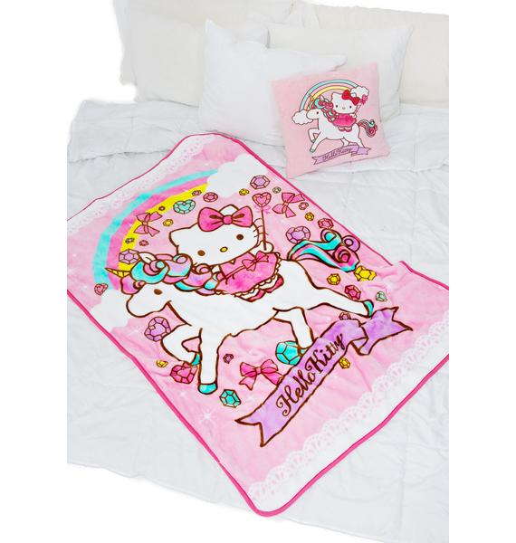 Sanrio Unicorn Kitty Blanket