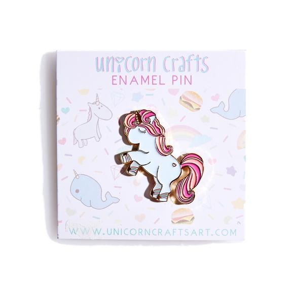Unicorn Crafts Pretty Unicorn Enamel Pin